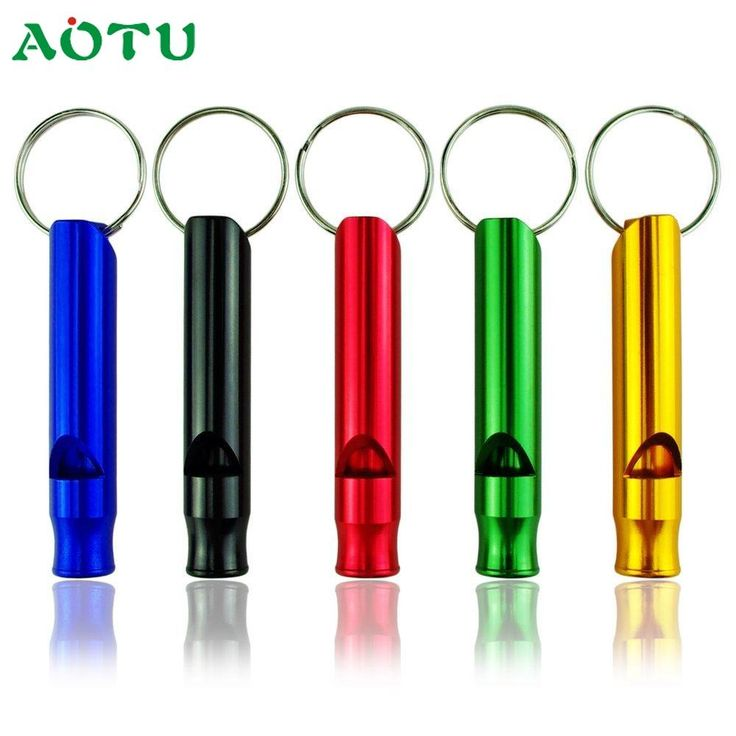 [Visit to Buy] Aotu 10pc Mix Aluminum Emergency Survival Whistle Keychain For Camping Hiking SEP12 #Advertisement