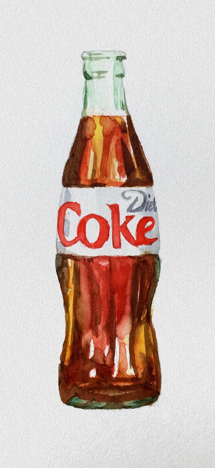 And we thought our favorite beverage couldn't be any more beautiful. This watercolor painting might be the next best thing to an actual Diet Coke!