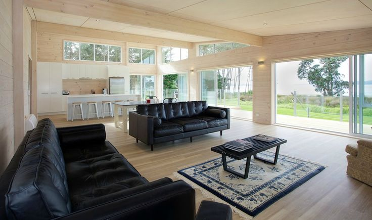 Warm neutral palette for Lockwood holiday home at Snells Beach