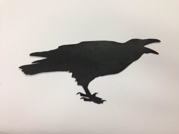 Crow Cutout  Raven Cutout  Reclaimed wood Project  by Base9Designs, $17.00