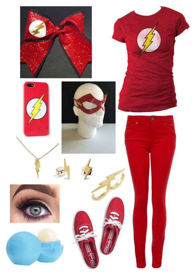 """""""The Flash Costume"""" by danii1d ❤ liked on Polyvore featuring Keds, Paige Denim, C. Wonder, Eos and Bing Bang"""