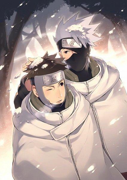Kakashi, Yamato, snowing, winter, yaoi; Naruto