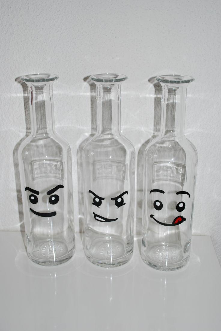 Orangensaft Flaschen