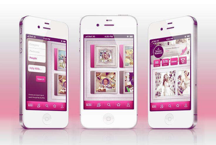 Big Day Bliss App #app #design #ui #iphone #ux