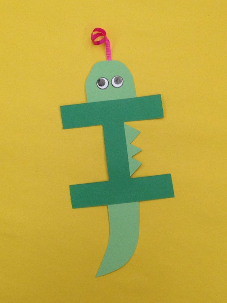 I is for iguana letter craft