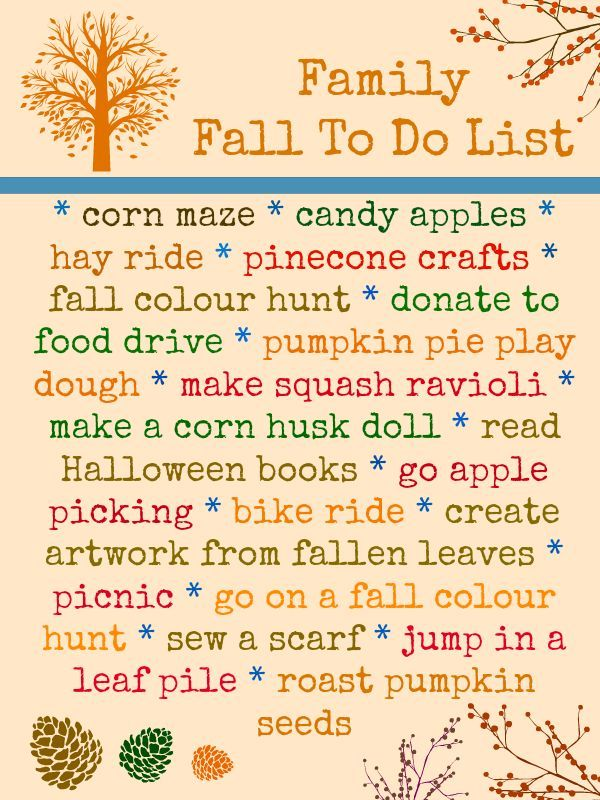 Weu0027ve Created An Inspiring Family Fall To Do List...get Ready