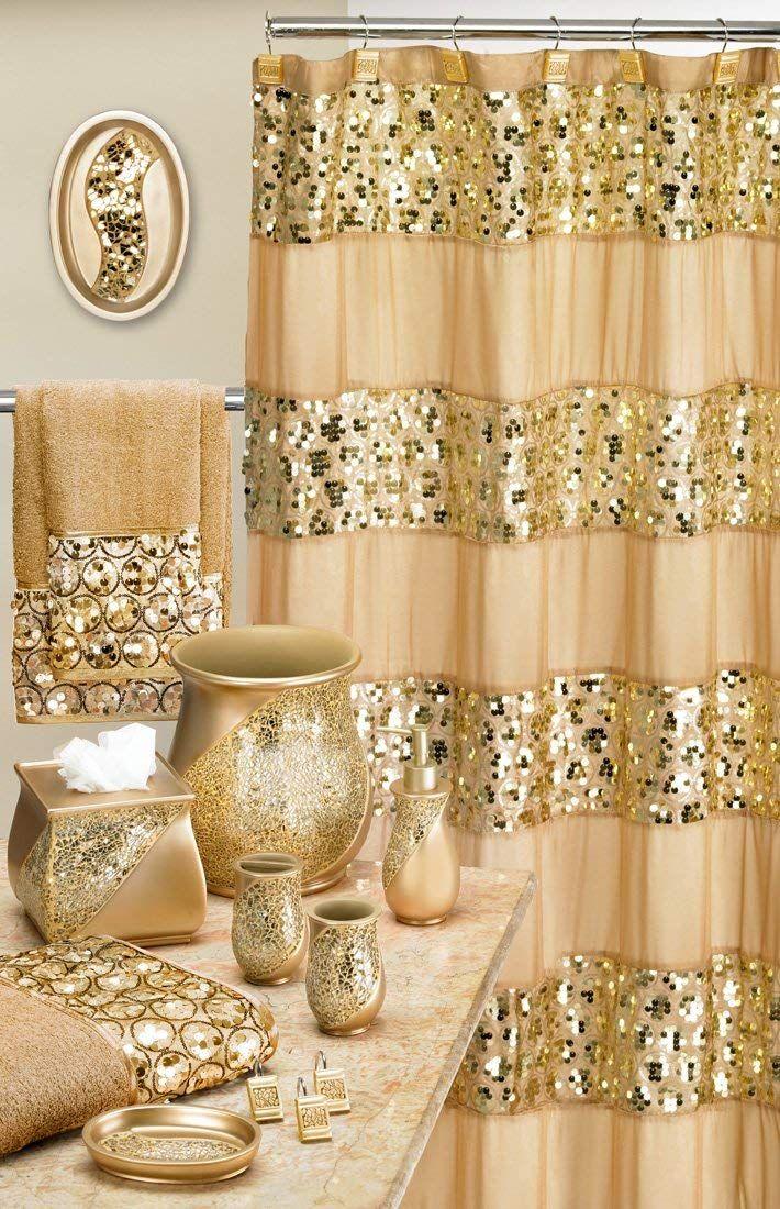 Amazon Com Popular Bath 839166 Sinatra Shower Curtain Champagne