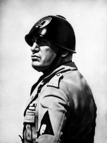Mussolini ~ he stated that the Corporate State is the perfect political model for a fascist dictatorship.  And it is.