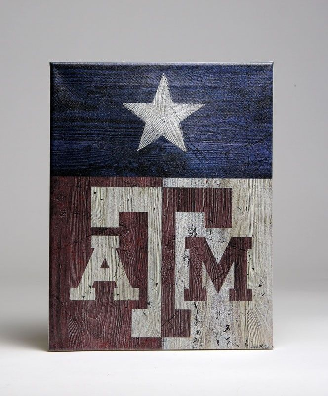 Texas A&M Flag canvas #AggieGifts More