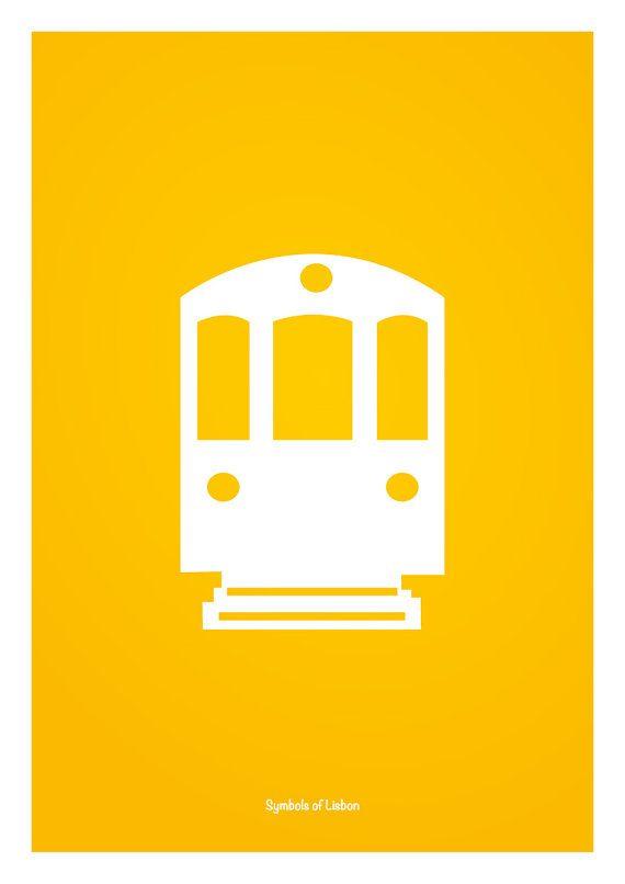 Desenho inspirado nos simbolos de Lisboa, Portugal. O elétrico 28 é o mais icónico exemplar da histórica rede de elétricos de Lisboa. Percorre uma