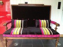 Retro Vintage Sofa/ Gyngestol