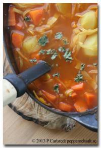 Grönsakssoppa - Sopprecept