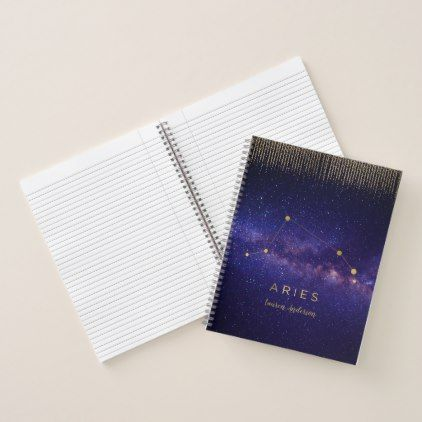 #Galaxy Aries Personalized Journal - Office - #birthday #gifts #giftideas #present #party