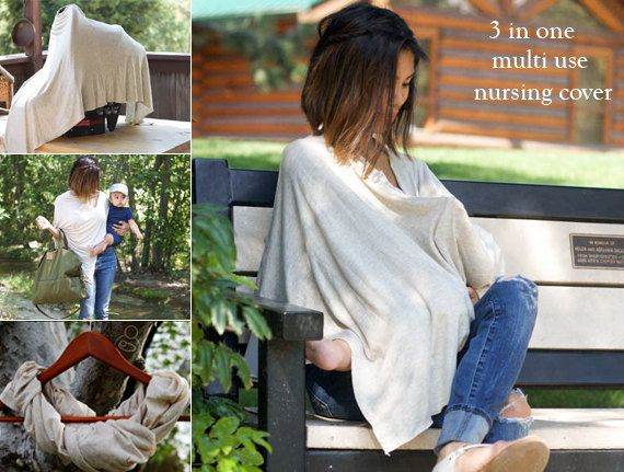 SALE Nursing Cover Poncho | Oatmeal Nursing Cover | Breastfeeding Cover By Cover Me Ponchos- BACKORER