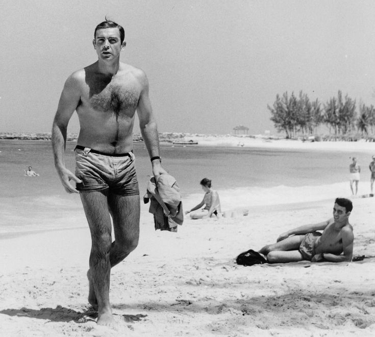 Sean Connery Young | Sean Connery in Dr. NO directed by Terence Young, 1962