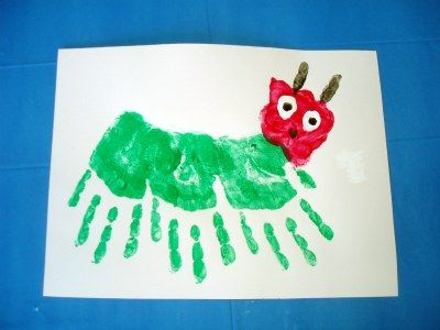 We love a good handprint activity, especially when it's #VeryHungryCaterpillar-themed!  http://www.pinterest.com/ommyom/the-very-hungry-caterpillar-45th-anniversary/