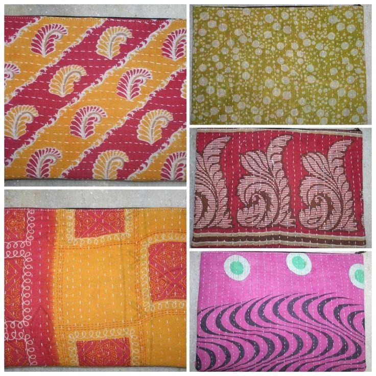 Vintage Kantha Women Clutch Bag Handmade Handbag cotton purse women bag #Handmade #Clutch