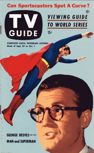 """George Reeves of """"The Adventures of Superman""""  September 25-October 1 1953"""