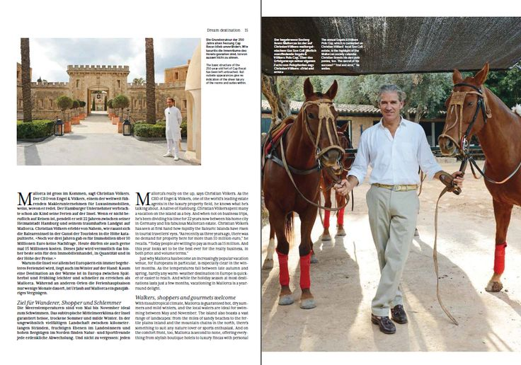 """Our CEO Christian Voelkers about Mallorca - featured in the 01/14 issue of """"Swiss Universe"""""""