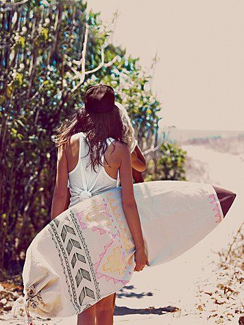 Free People Limited Edition Surfboard Bag - it's out now! Free People x Chapman at Sea