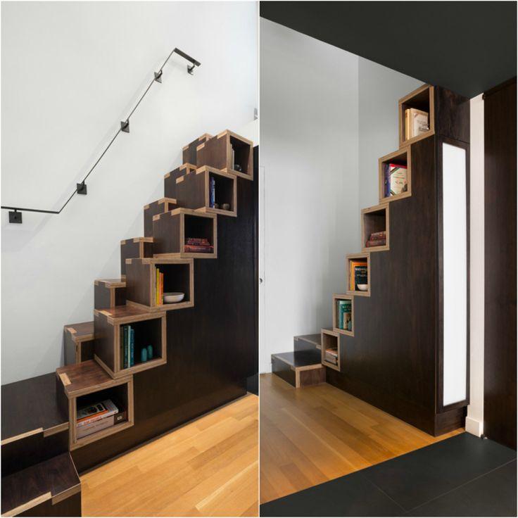 escalier gain de place premier pas vers am nagement petit espace mezzanine pinterest. Black Bedroom Furniture Sets. Home Design Ideas