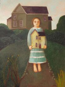 """""""A House Me"""" is a painting which was awarded the Alfred Daniels Award for a narrative painting at the Royal Society of British Artists (RBA) exhibition in March 2014"""