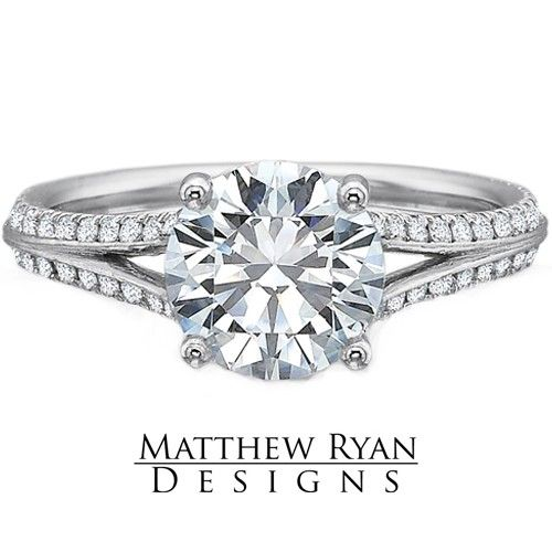 New Matthew Ryan Design Diamond Engagement Ring MRD Diamond Engagement Ring