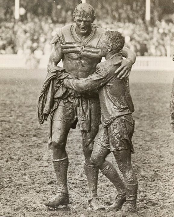 Norm Provan and Arthur Summons after the 1963 NRL grandfinal[9631200] #HistoryPorn #history #retro http://ift.tt/1TJANH4