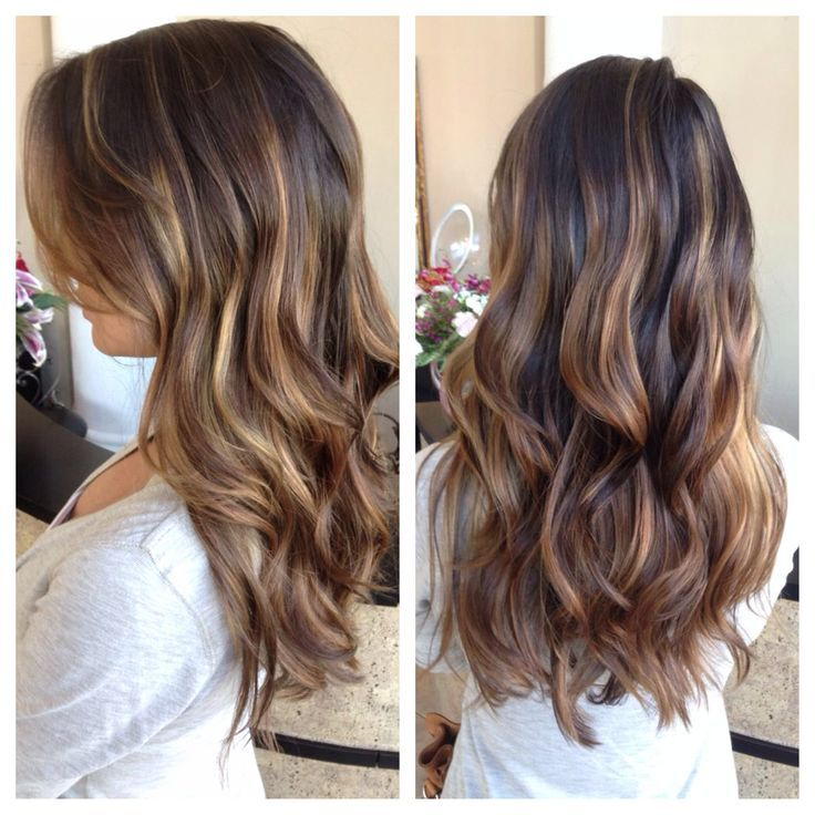 honey balayage on dark brown hair , Google Search