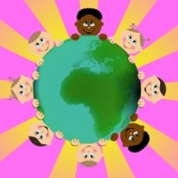 Around the World Crafts for Kids - great for thinking day!