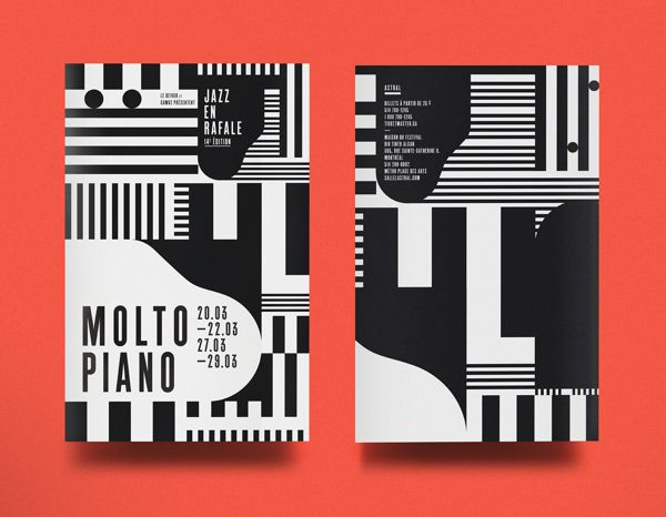 MOLTO PIANO - Jazz en rafale 2014 by La Mamzelle & Co. atelier, via Behance
