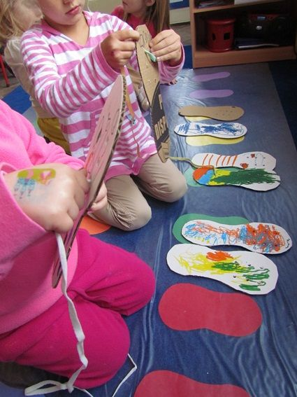 Pete the Cat - fine motor practice to lace white shoes and just fun to decorate shoes and laces!