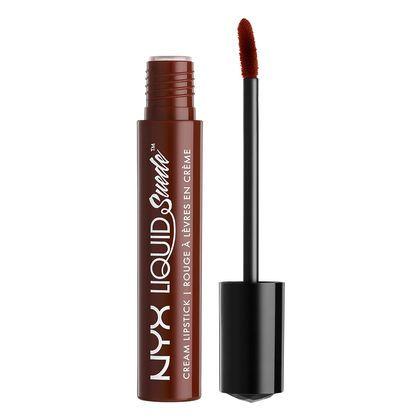 Liquid Suede Cream Lipstick in Club Hopper - (brown with reddish undertones)