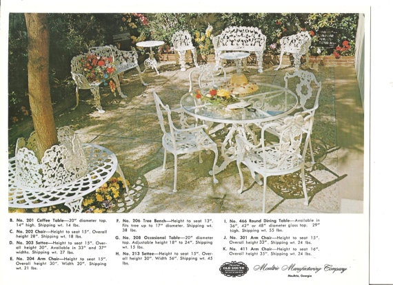 1960s Patio Table And Chairs Retro Outdoor Furniture