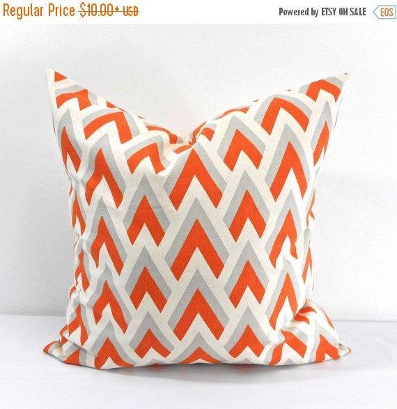 SALE Zapp Mandarin/Natural Pillow case. by TwistedBobbinDesigns