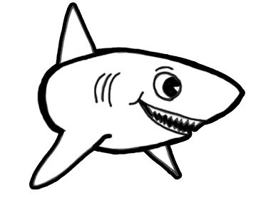 Finished Shark Drawing Lesson