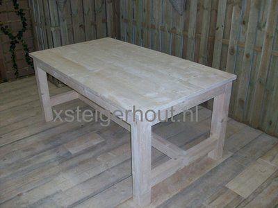 Kloostertafel steigerhout Bouwpakket te koop op xsteigerhout.nl voor maar €99,- Zelf een tafel maken is nog nooit zo leuk geweest