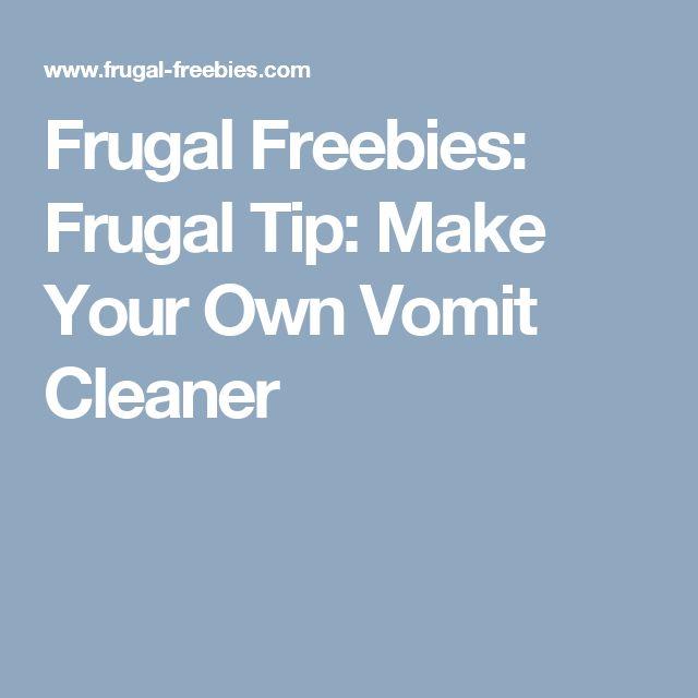 Frugal Freebies: Frugal Tip: Make Your Own Vomit Cleaner