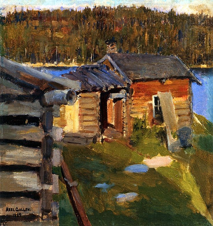 The Ekola Croft in Evening Sunlight Akseli Gallen-Kallela - 1889