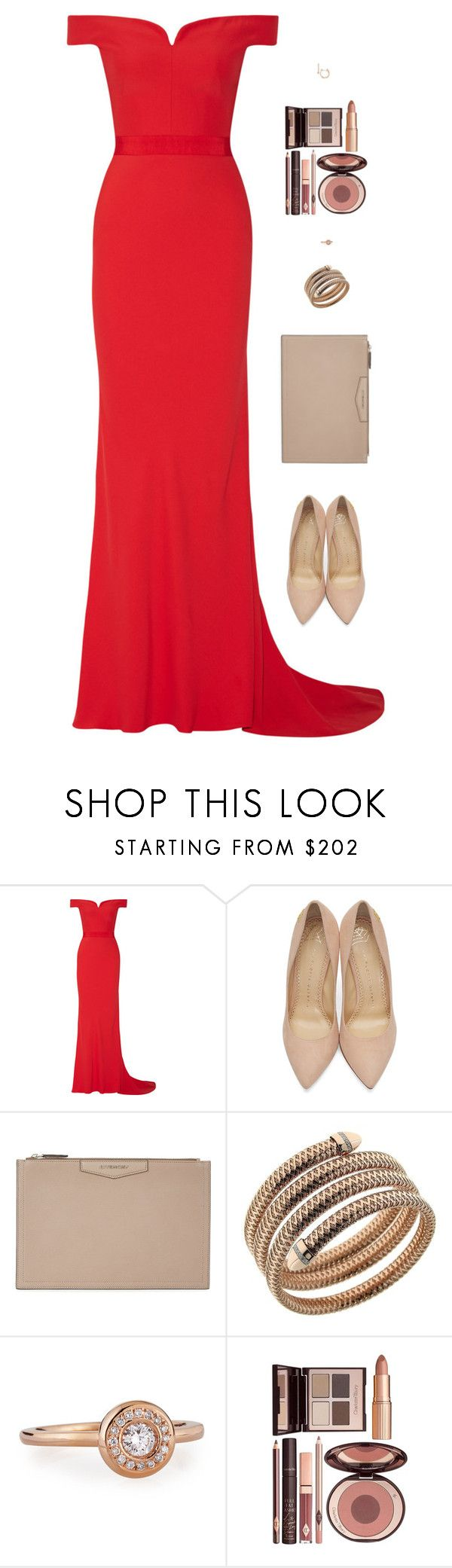 """""""Sin título #4487"""" by mdmsb on Polyvore featuring moda, Alexander McQueen, Charlotte Olympia, Givenchy, Roberto Coin y Charlotte Tilbury"""