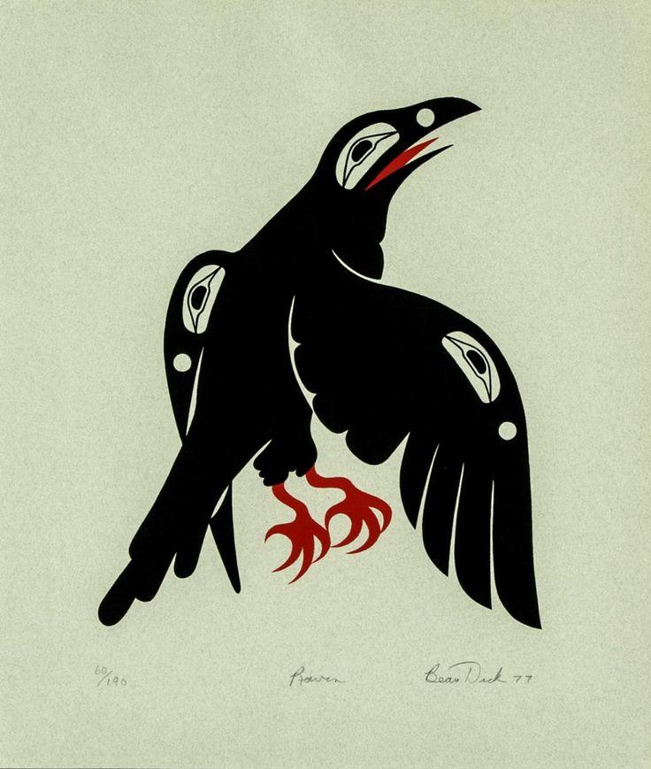 Beau Dick,  Raven, silkscreen
