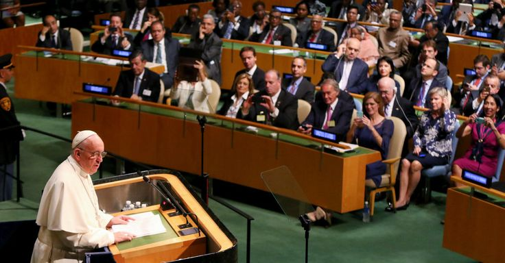 Pope Francis Addresses U.N., Calling for Peace and Environmental Justice.