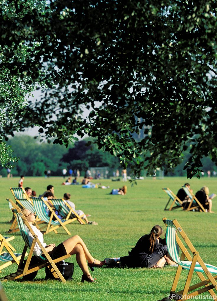 Image result for Famous paintings and artwork deckchairs in Hyde Park in summer Pinterest