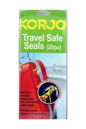 Korjo has released these new and improved Travel Safe Seals. Each Travel Safe Seal has a unique combination of colour and alpha-numeric code. Longer seals for easier use and snap off duplicate Alpha Numeric code for extra security. Travel Safe Seals (Each Pack Contains 20 Seals) : Korjo (TSS38) by Korjo Travel Accessories : Travel Universe ®