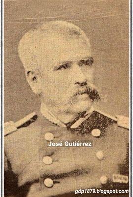 Coronel José Antonio Gutiérrez participó en el ataque al fuerte ciudadela durante la toma del morro de Arica.  Tomado del blog de Jonatan Saona http://gdp1879.blogspot.com/2008/02/jos-antonio-gutirrez-chile.html#ixzz4lFMH15P8