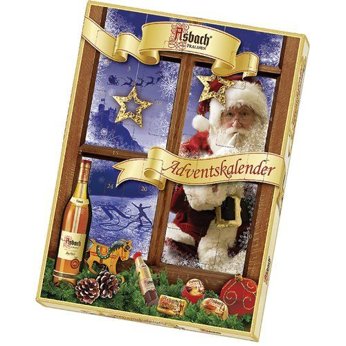 asbach uralt brandy filled chocolate advent calendar with. Black Bedroom Furniture Sets. Home Design Ideas