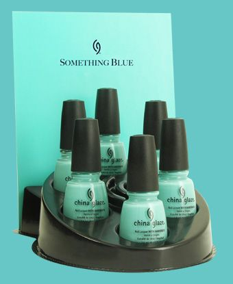 China Glaze Something Blue For Audrey A Tiffany blue nail polish |