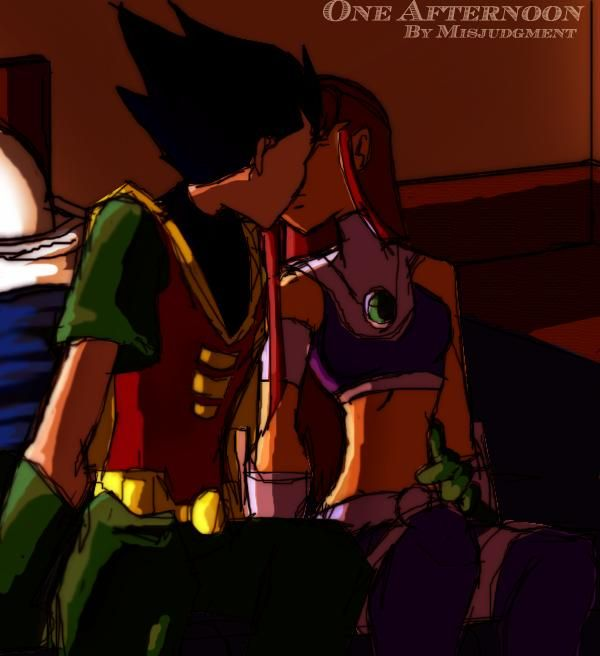 Robin and Starfire | images of another robin and starfire by misjudgment jpg wallpaper