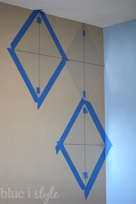 Blue i Style: {decorating with style} How to Paint an Argyle Wall with Almost No Math