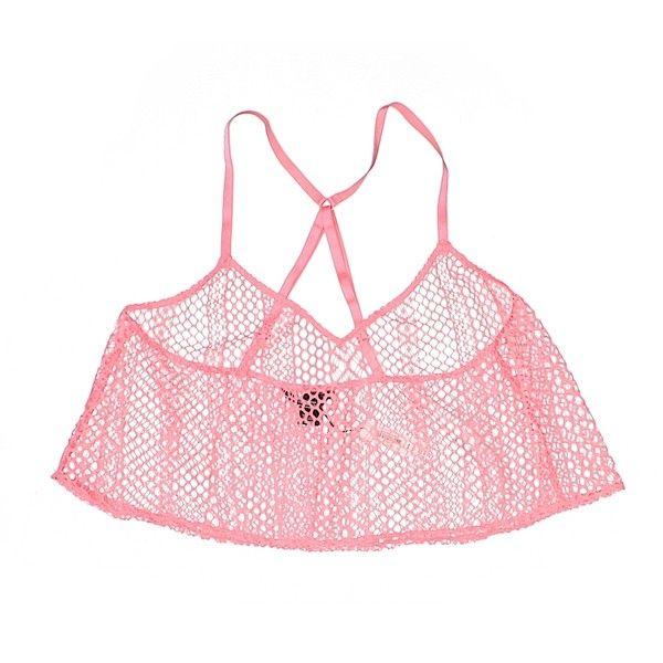 Victoria's Secret Swimsuit Top ($12) ❤ liked on Polyvore featuring swimwear, bikinis, bikini tops, pink, victoria secret bikini, victoria's secret, pink bikini, victoria secret bikini top and swim tops